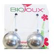 Orecchino post foratura silver pearl 14 mm hook articolo bjt954