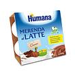 Humana merenda al latte gusto cioccolato 100 g 4 pezzi